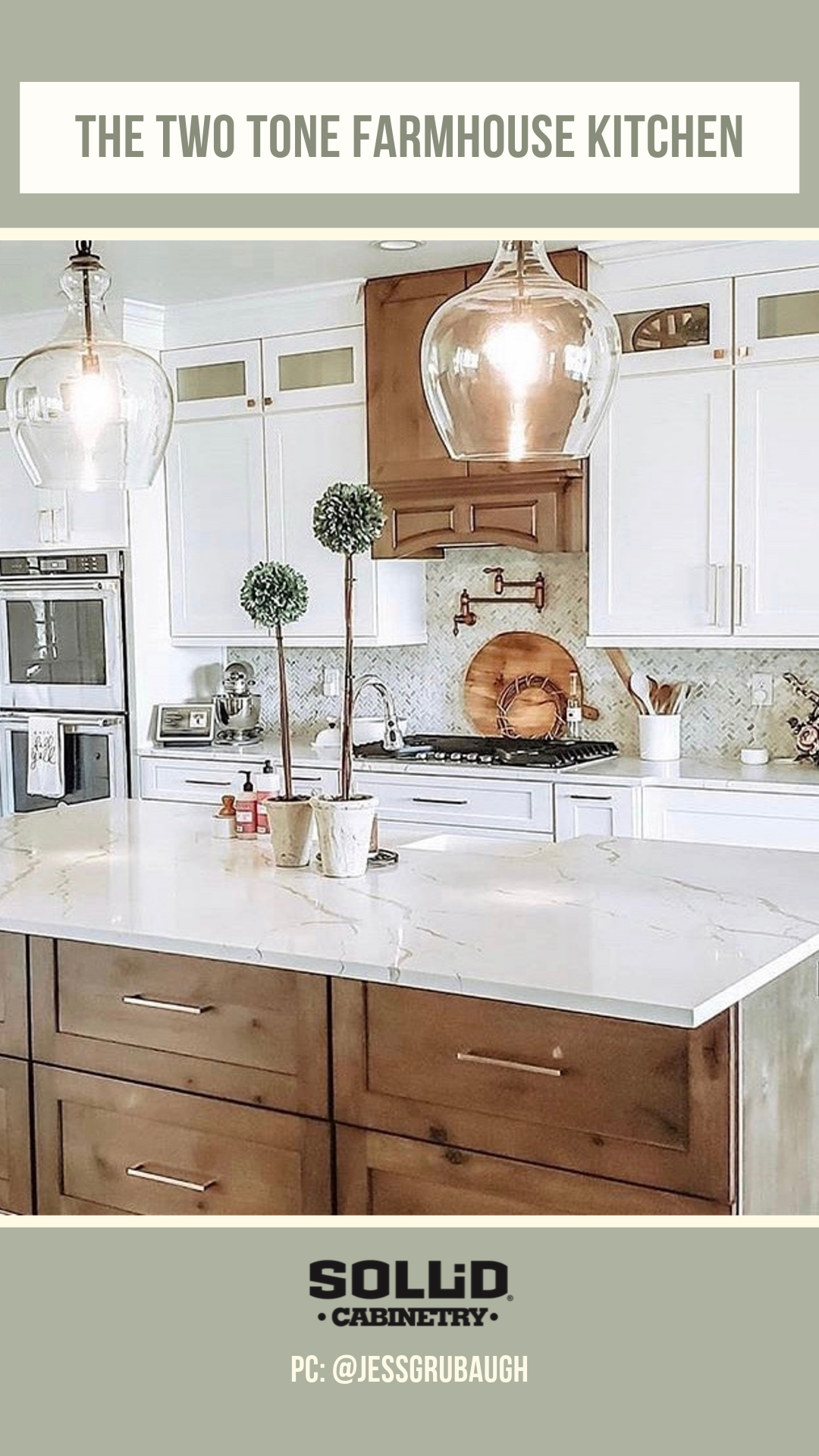 Two Tone And On Trend Double Tap If You Adore This Modernfarmhouse Kitchen By Jessgrubaug Custom Kitchen Cabinets Free Kitchen Cabinets New Kitchen Cabinets