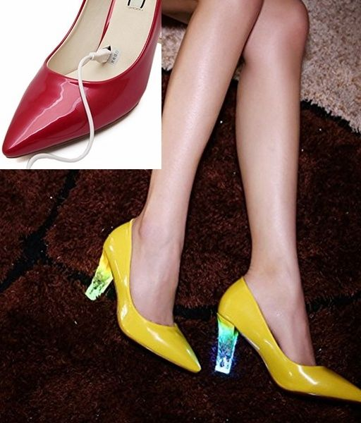 Women's Shoes LED luminous pumps