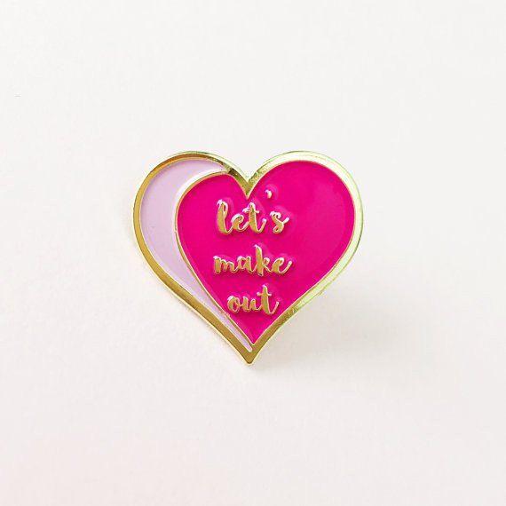 Heart Just Beat It Enamel Pin