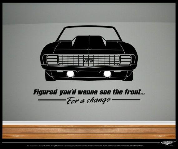 69 Camaro car decal funny humor drag racing by