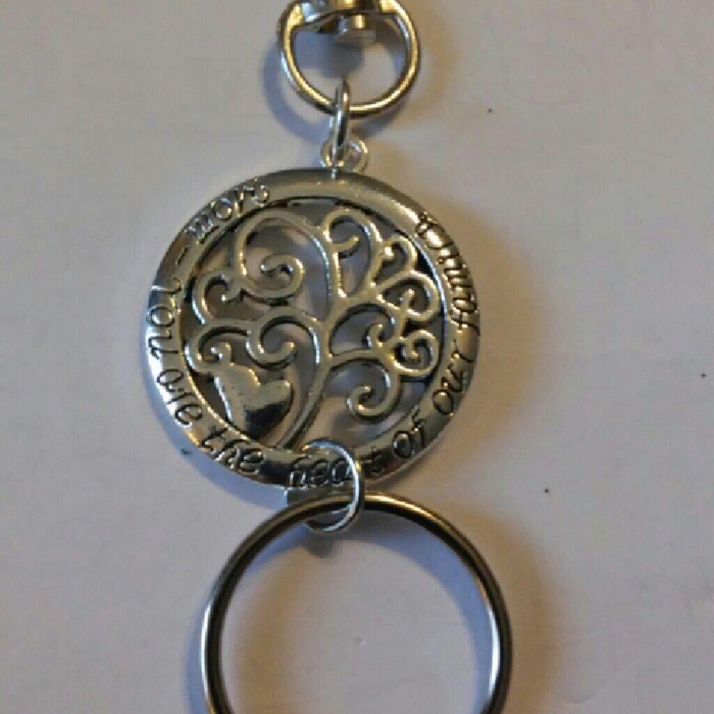 Pamela may mom silver keyring chain products