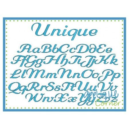 Unique Embroidery Font | Embroidery Designs | Embroidery