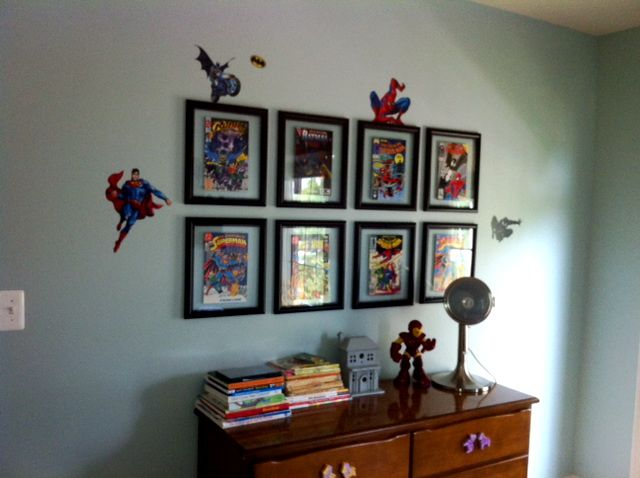 superhero themed boy's room | room and superhero room