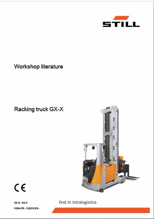 Still GX-X Turret Truck Operating and Workshop Repair