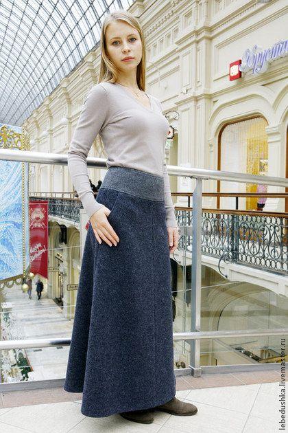 e7a73ffc459 Теплая юбка Анкона Лунга - юбка в пол