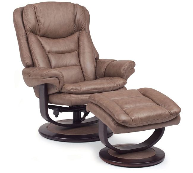Lane Impulse 18540 Leather Swivel Recliner With Ottoman Recliner