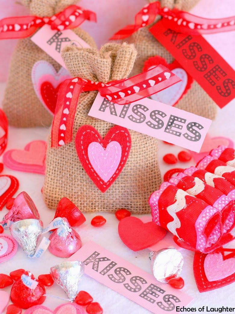Echoes of Laughter: Valentine's Treat Bags