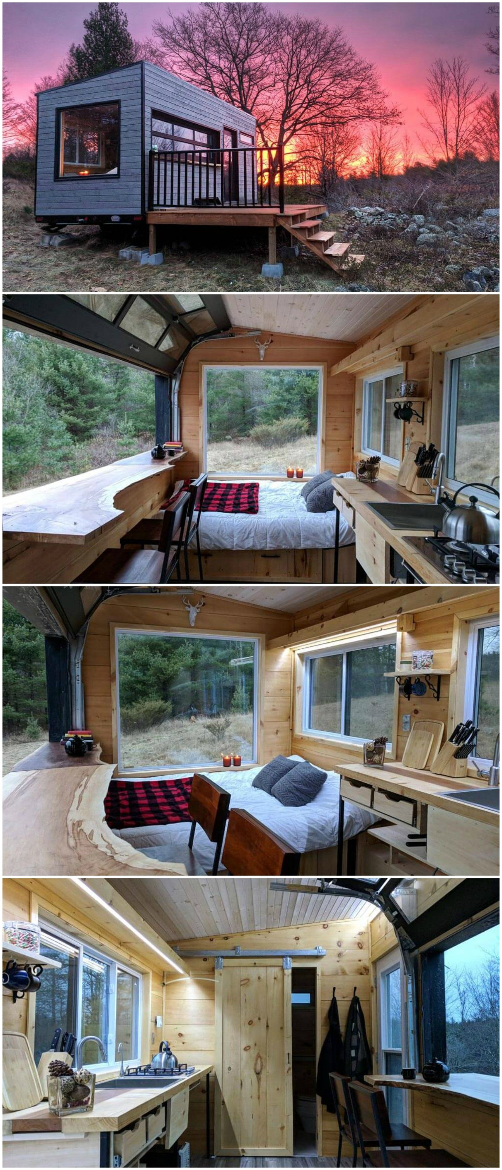 Mason Is A Stunning Off Grid Solar Powered Cabin Available For Nightly Rental Through Cabinscape With Its Panor Best Tiny House Small House Plans Small House