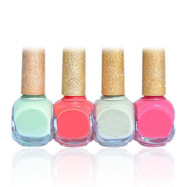 1Pc Rose Red & Green Shades Sweet Nail Polish Varnish for Nail Art