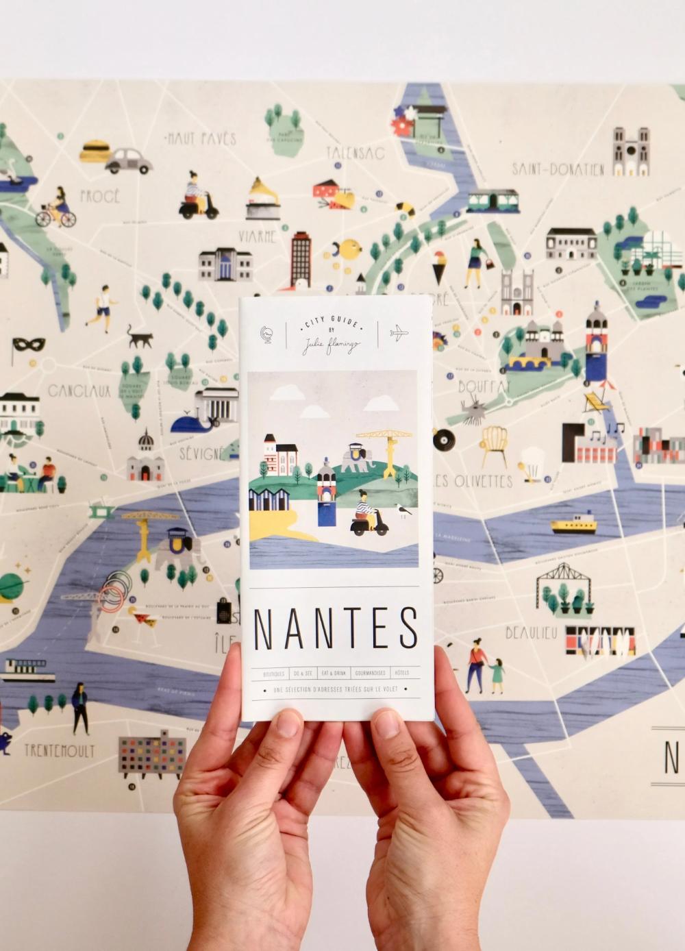 City Guide Nantes - Julie Flamingo - City Guides Graphiques