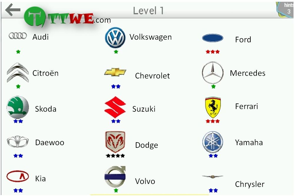 Car Logo Quiz Android Answers With Images Logo Quiz Car Logos