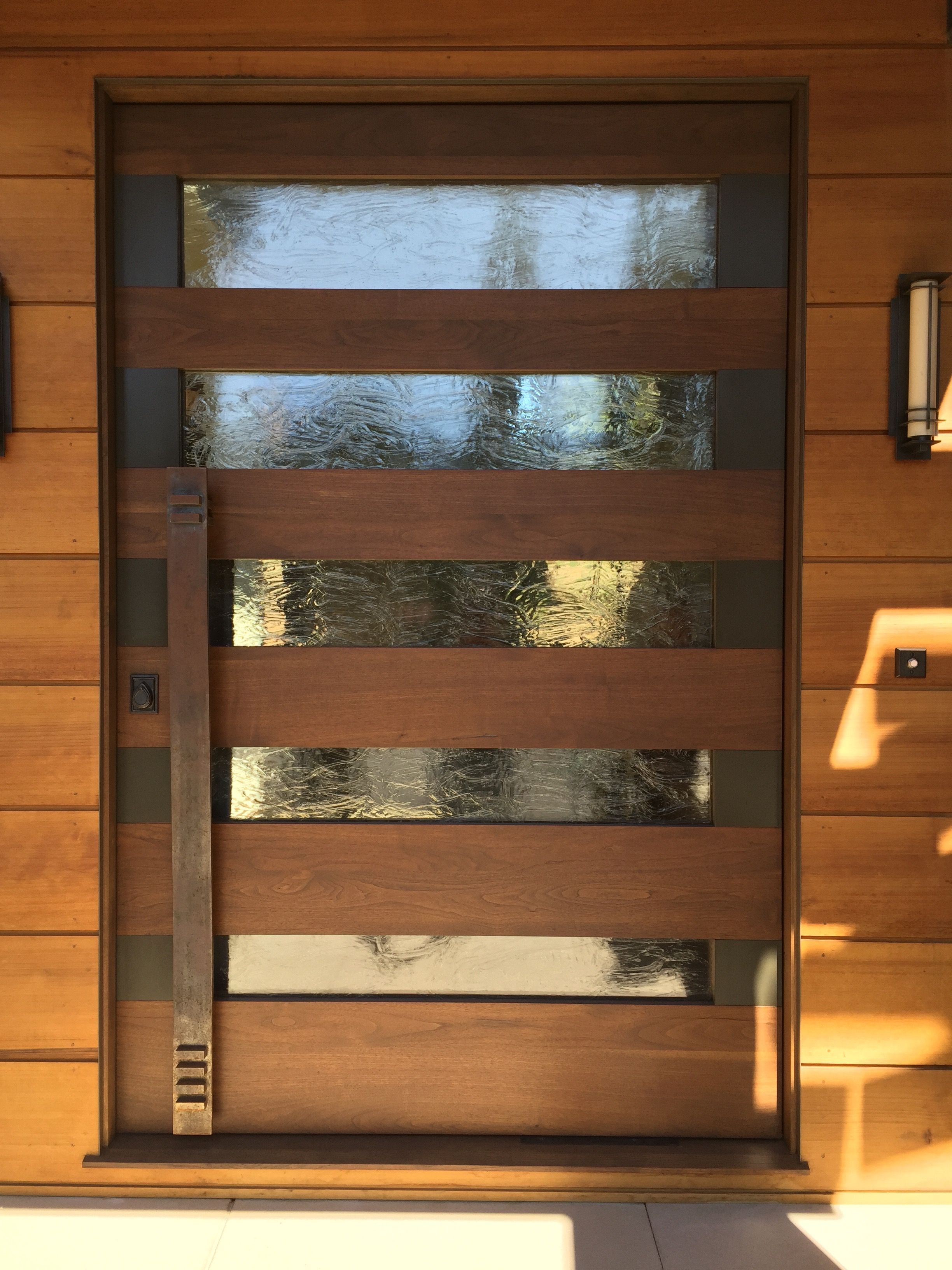 steel  u0026 wood pivot doors
