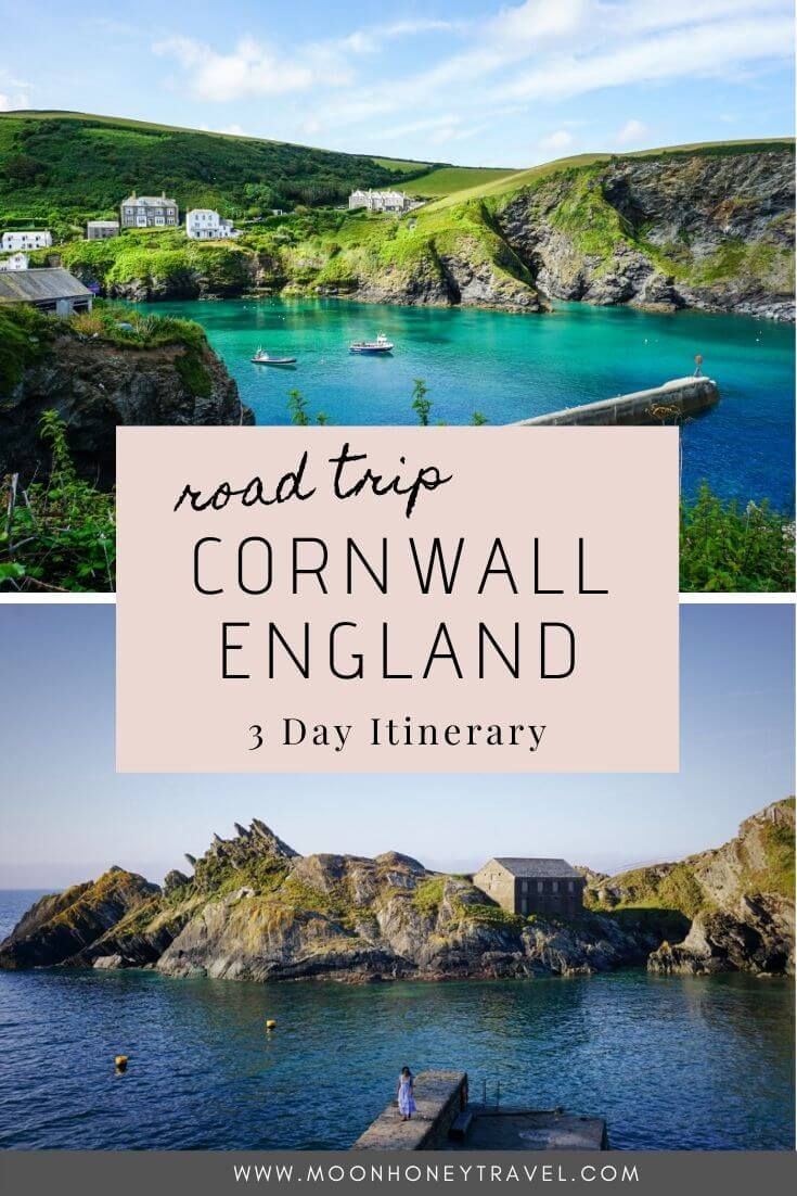 A 3-Day Cornwall Itinerary featuring the most beautiful towns in Cornwall, England, and lots of walking along the South West Coast Path.  #cornwall #england #cornwallroadtrip #cornwallengland #englandtravel #travelengland #uk #uktravel #southwestcoastpath #cornishcoast #coastalwalking #moonhoneytravel