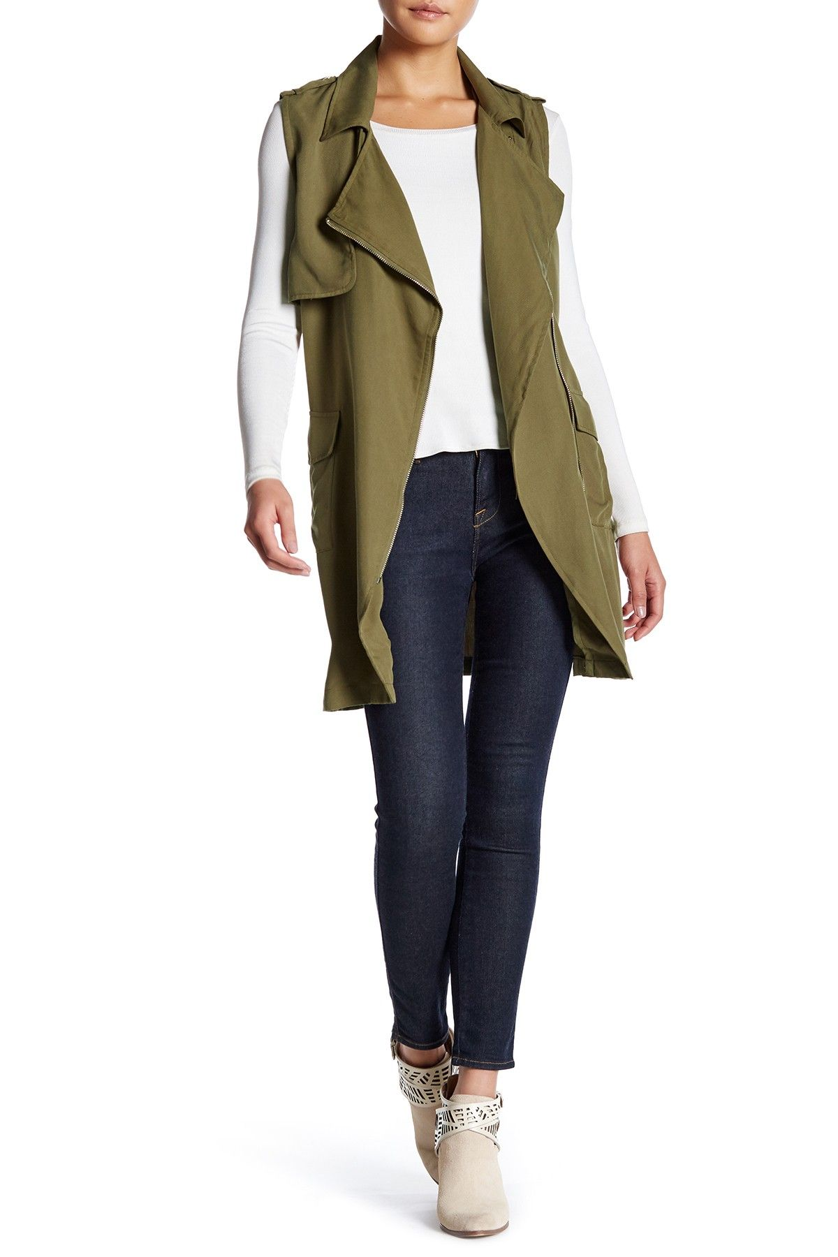 Belted Zip Army Vest by Fate on @nordstrom_rack