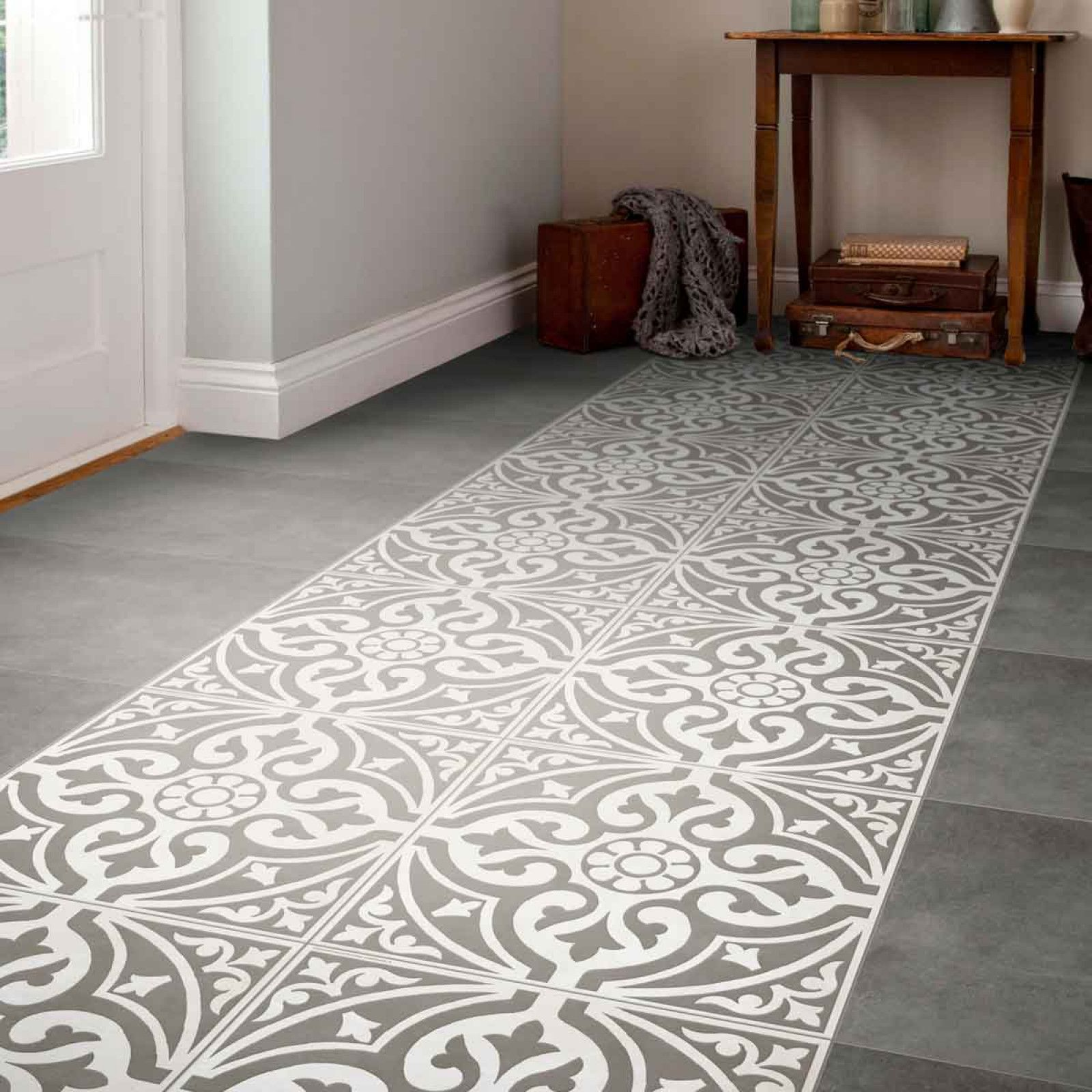 A traditional looking grey patterned feature floor tile designed a traditional looking grey patterned feature floor tile designed with a subtle stone effect for added dailygadgetfo Choice Image