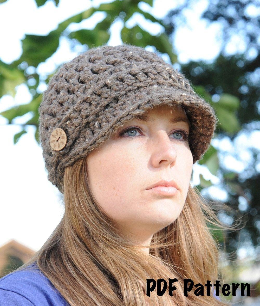 Newsboy hat pattern crochet pattern crochet hat pattern brimmed newsboy hat pattern crochet pattern crochet hat pattern brimmed hat pattern beanie bankloansurffo Images