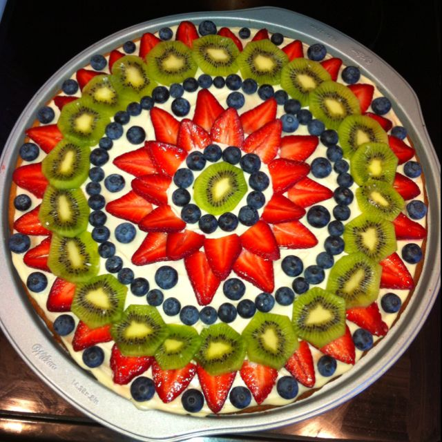 Fruit pizza i made! | Desserts | Pinterest | Fruit pizzas and Pizzas