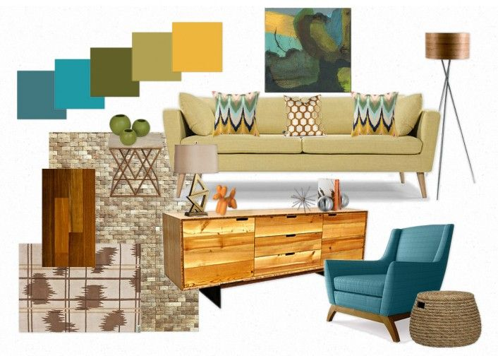Mid Century Modern Decorating Colors | Mid Century Modern Color Palette:  Mesmerizing Moody Monday