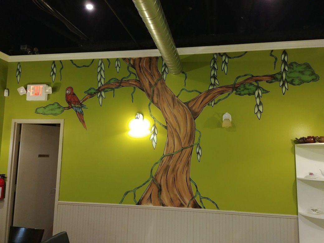 Amazon Cafe tree mural by - Ranz | Murals / Wall Art | Pinterest ...