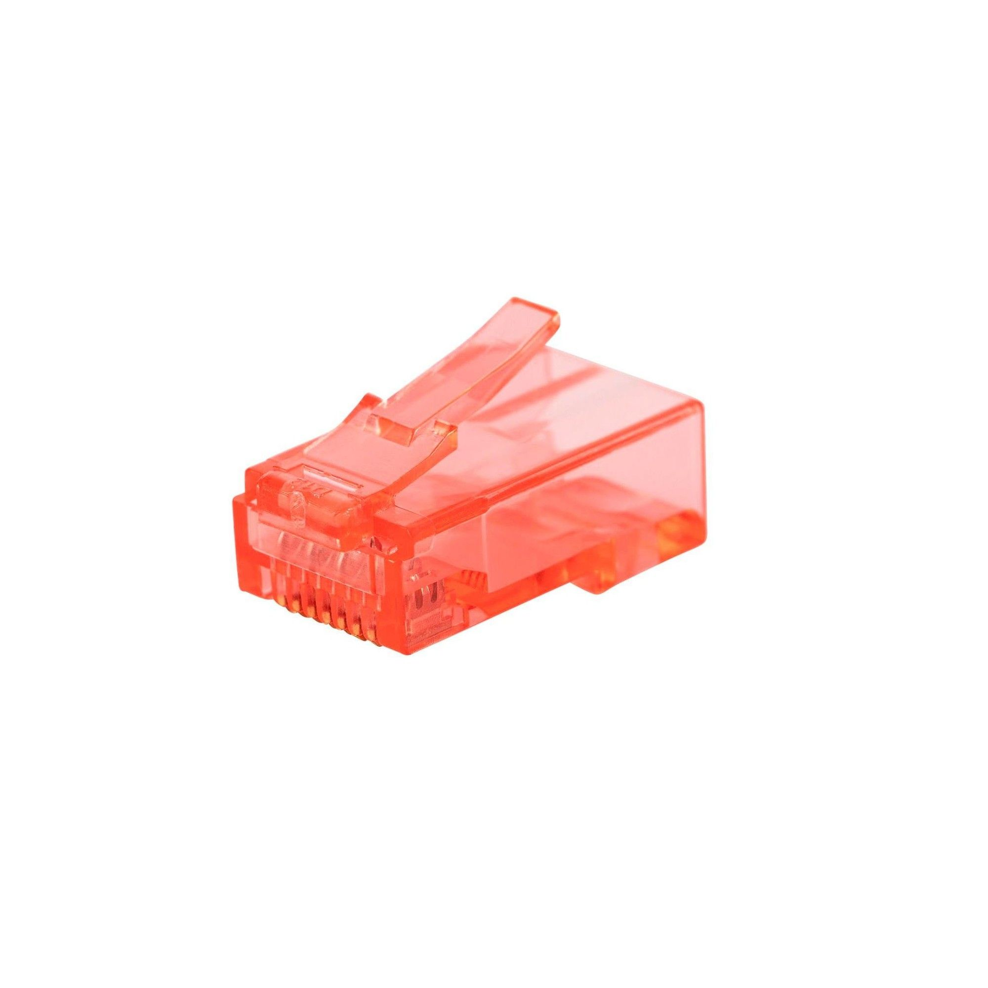 Monoprice 8P8C RJ45 Plug W// Inserts for Solid Cat6 Ethernet Cable 100 pcs//pack