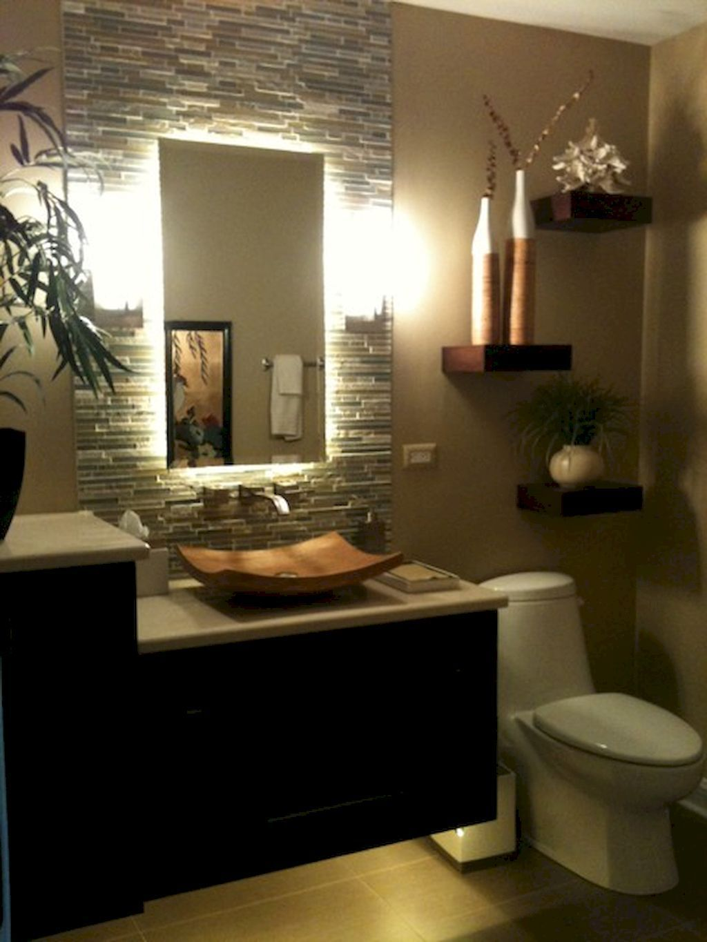 35 most efficient small powder room design ideas (24 ... on Small Space Small Bathroom Ideas Pinterest id=70511