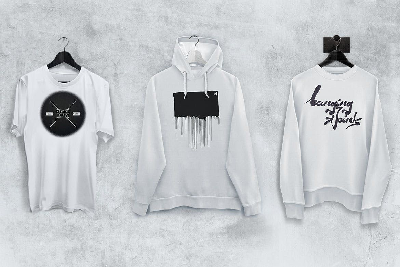 Download T Shirt Sweatshirt Hoodie Mockup Set By Bangingjoints On Envato Elements Hoodie Mockup Sweatshirt Shirt Sweatshirts Hoodie