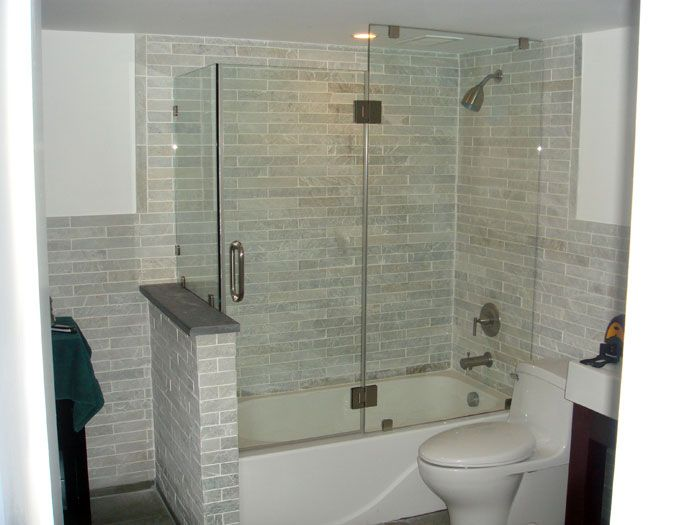 just for the overall concept of tub + shower + glass door Google ...