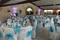 Lot Deco De Salle De Mariage Blanc Marron Et Bleu Turquoise
