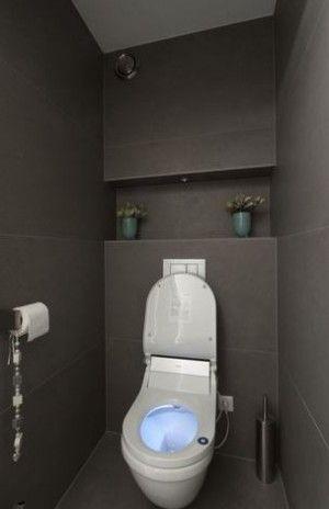 Idee voor indeling achterwand toilet huis wc pinterest toilet - Wc kleine ruimte ...