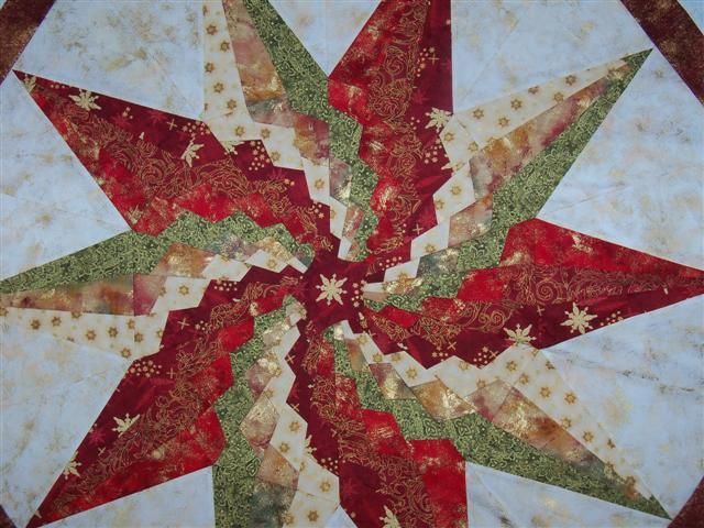 ten point star spiral quilt   Click image for larger version. Name ... : christmas star quilt block - Adamdwight.com