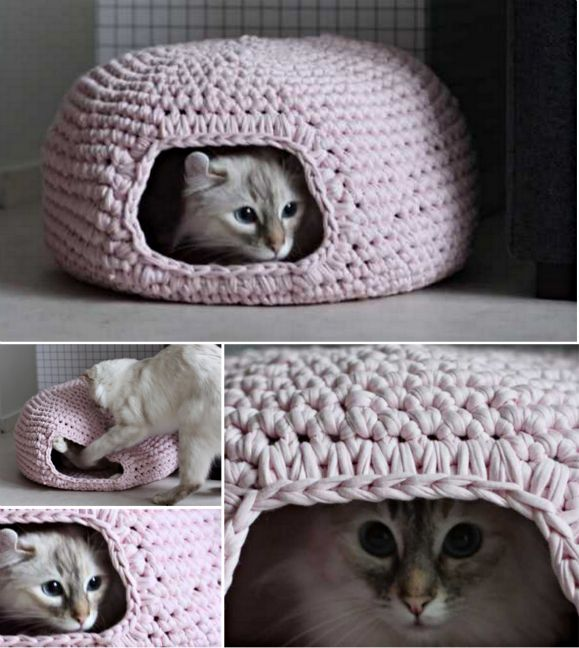 Diy Crochet Cat Cave Pinterest Cat Cave Hiding Places And Cave
