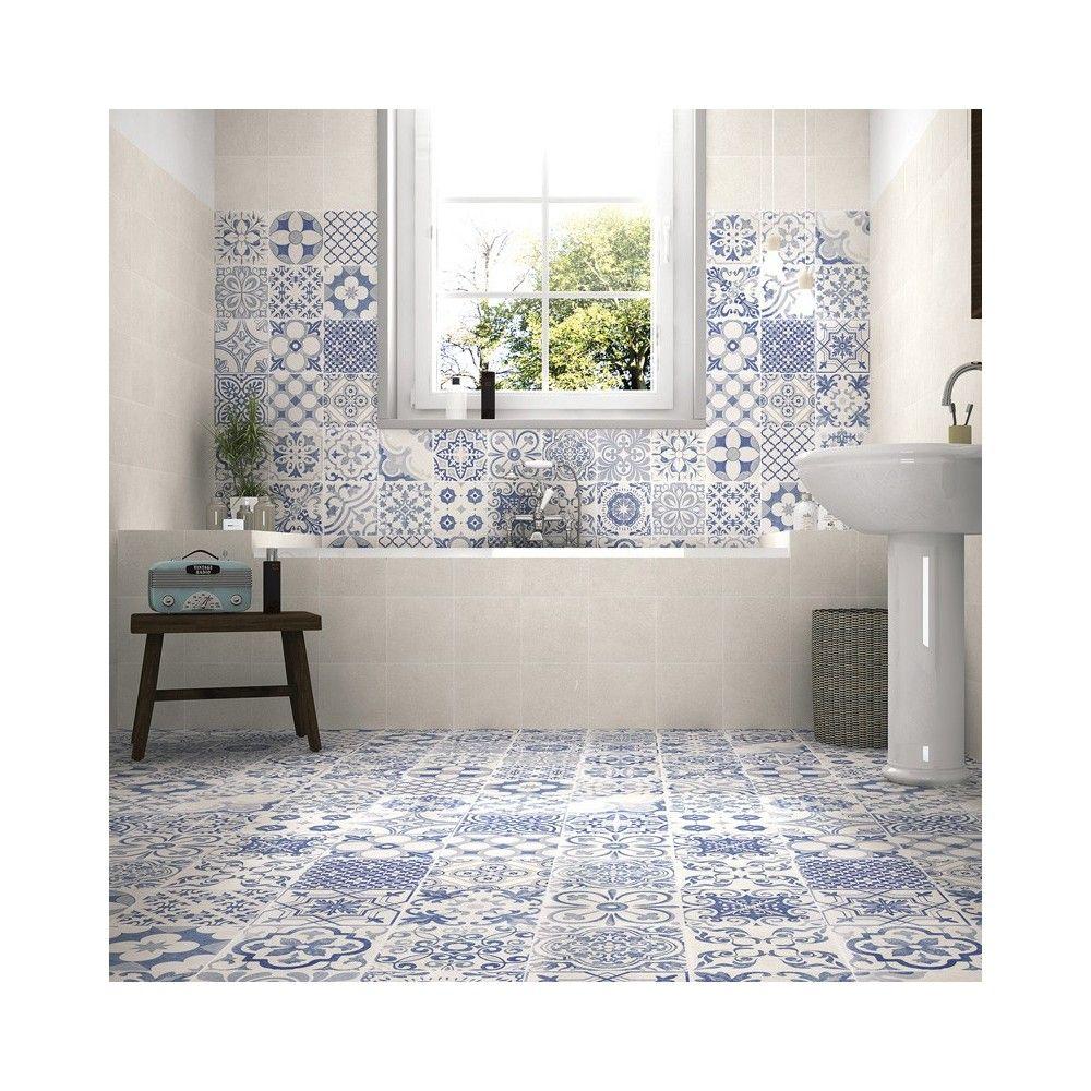 Patchwork Hidraulico Porcelanico Skyros Decor Azul Estilos De  # Muebles Dios Rey Pontevedra