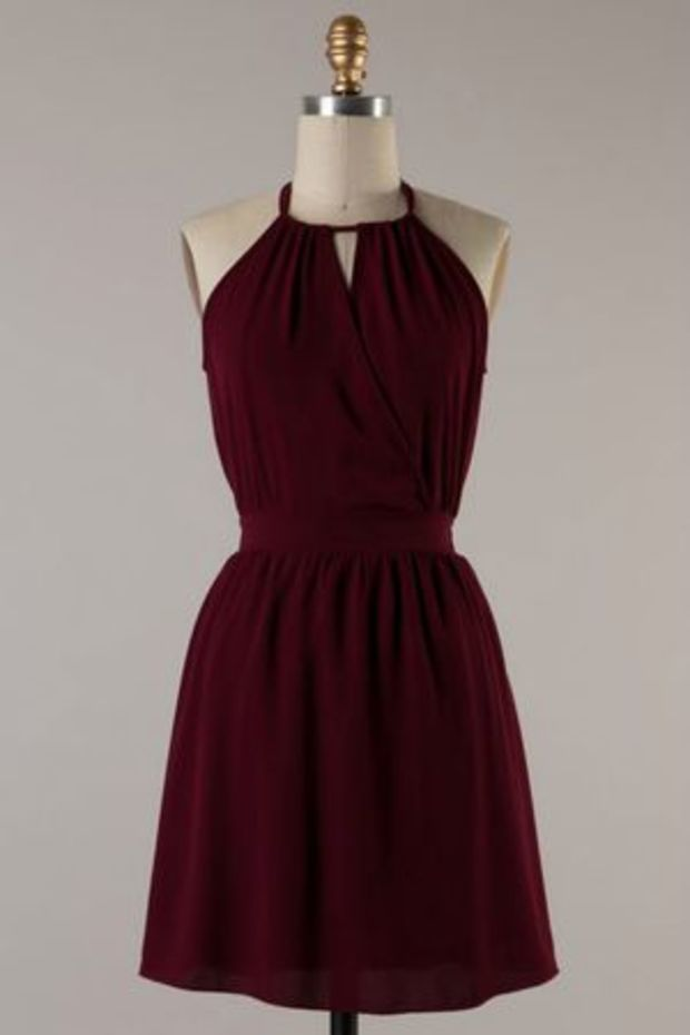 999b2b86188 Awesome Casual College Graduation Dresses Woven Maroon Dress... Check more  at http