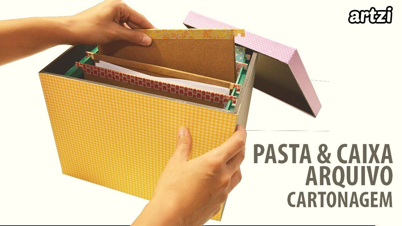 Caixa Arquivo Com Pastas Suspensas A5 Em Cartonagem Diy Com