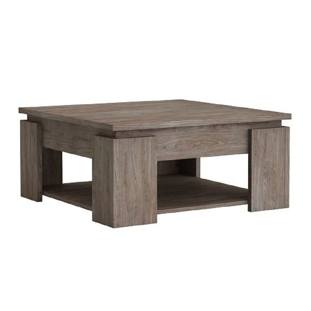 BESTChoiceForYou New Linosa Wooden Coffee Table Square In