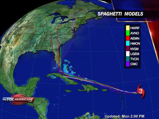 Hurricane Irma Spaghetti Models View