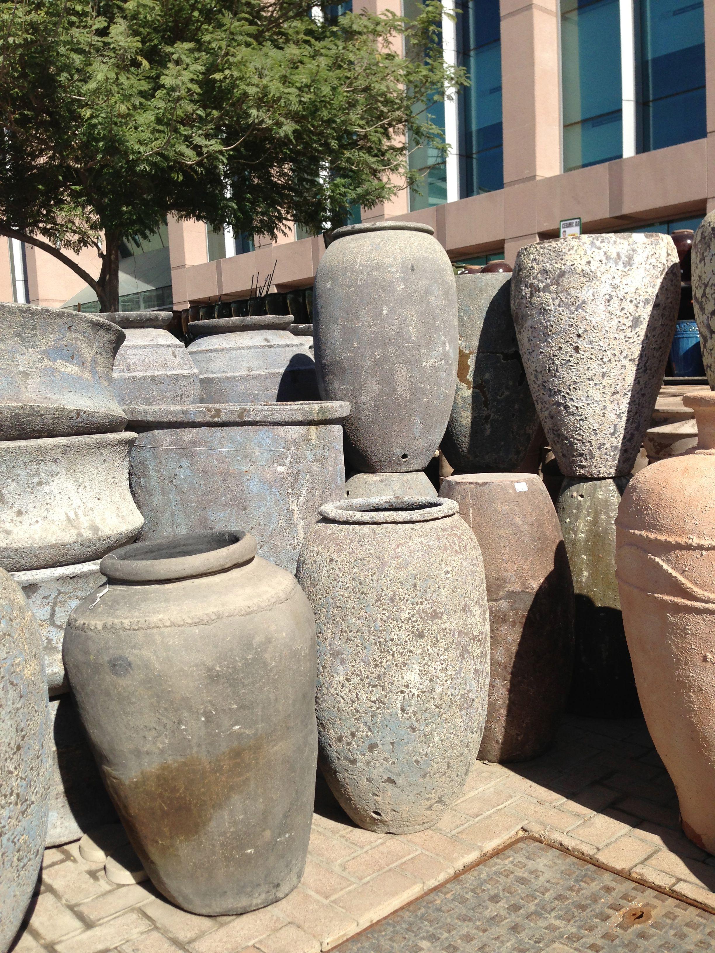 pots garden centre dubai Dubai garden, Garden pots