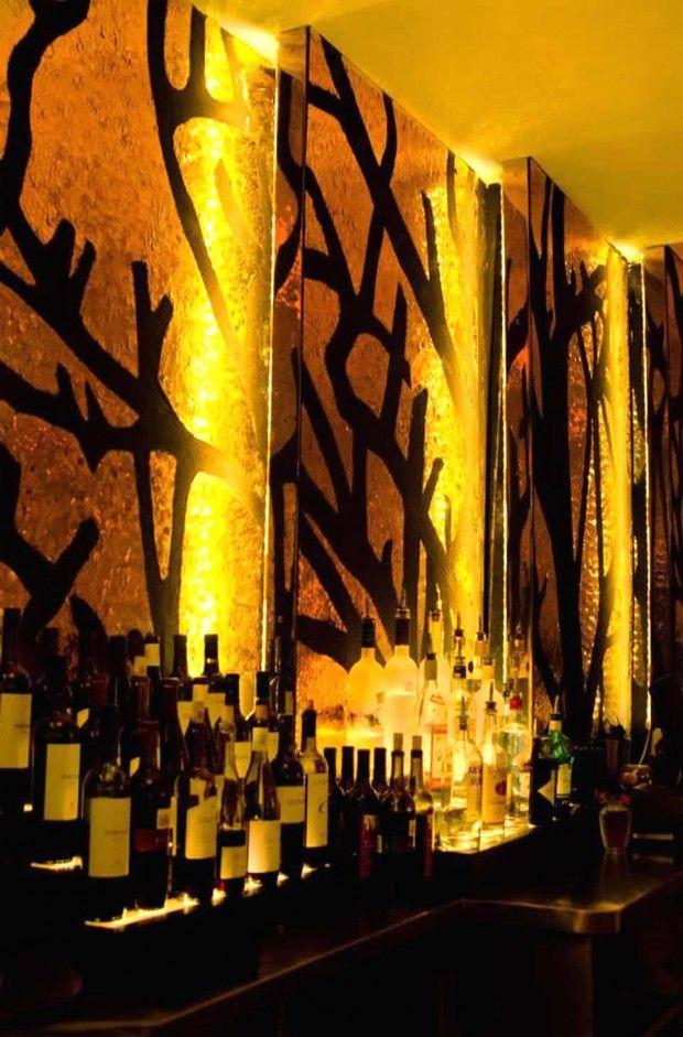Bar wall idea | main | Pinterest | Wall ideas, Walls and Restaurant ...