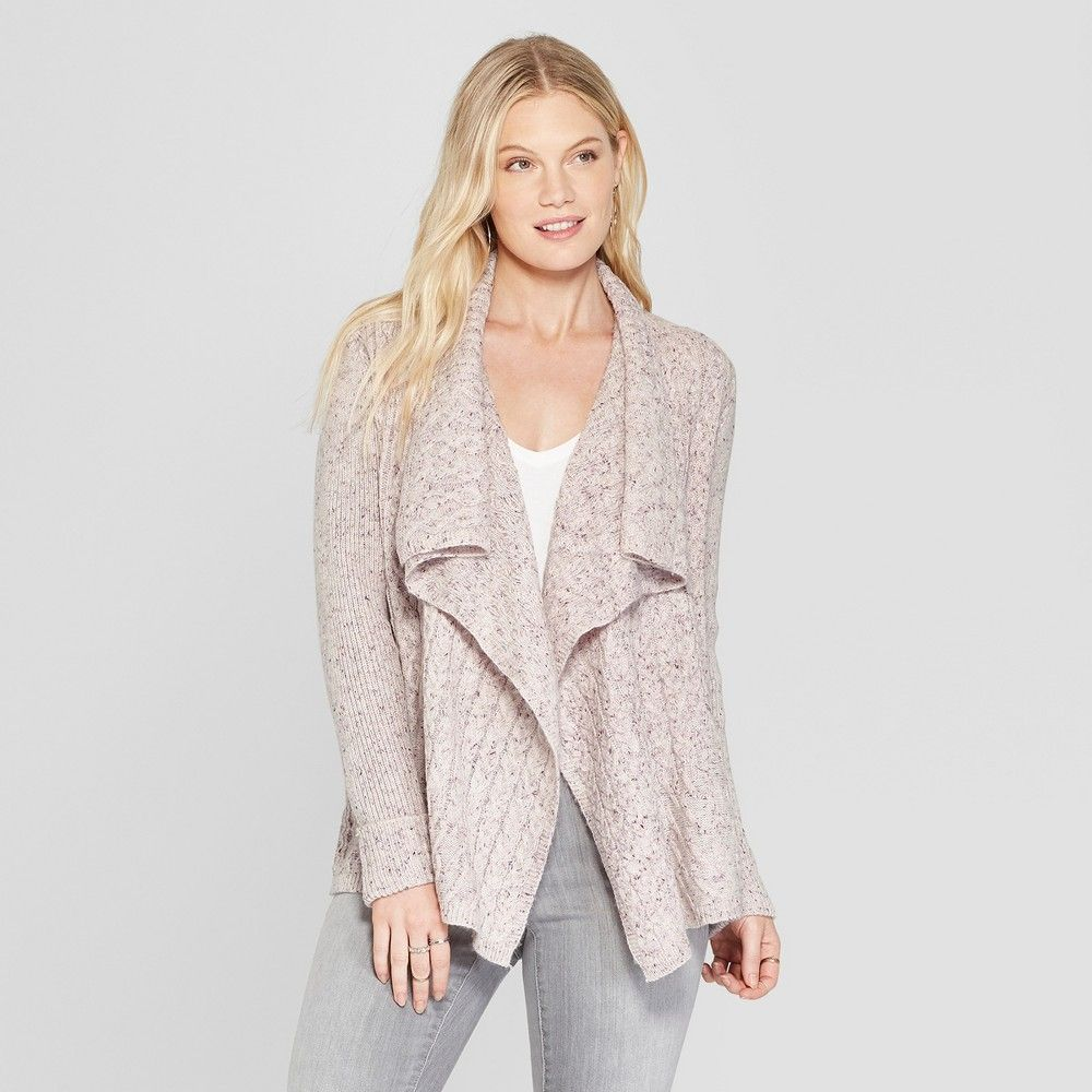 Women's Long Sleeve Cable Detail Open Cardigan Knox Rose
