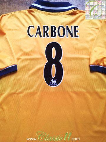 1998 99 Sheffield Wednesday Away Premier League Shirt Carbone 8 L