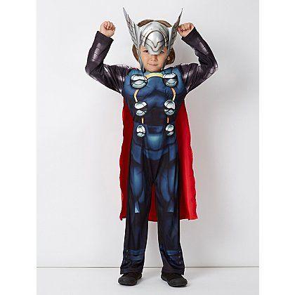 Marvel Avengers Assemble Thor Fancy Dress Costume Fancy dress - asda halloween decorations