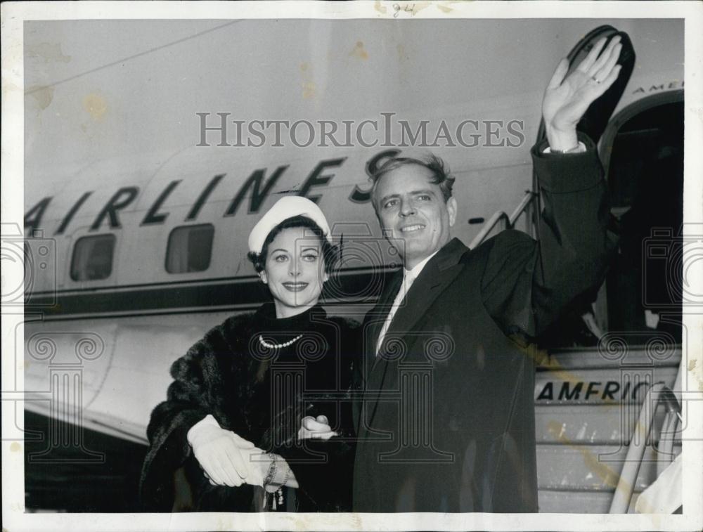 Hedy LaMarr & 5th husband Howard Lee