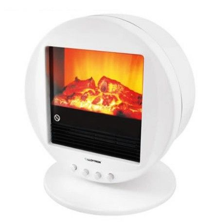 2kw White Electric Stove Fireplace Round Electric Stove