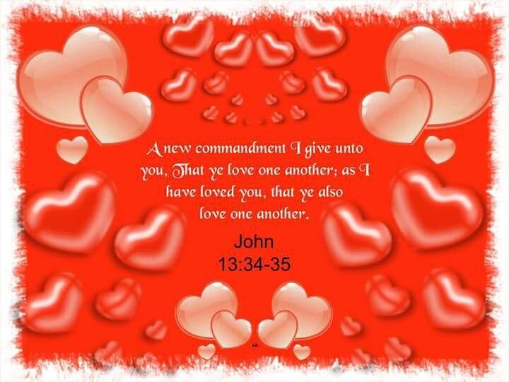 John 13:34-35 KJV