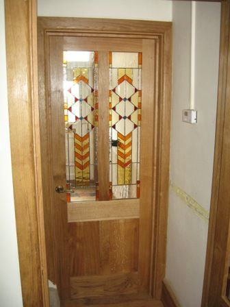 Hill Stained Glass Interior Door Panel Remodel Office