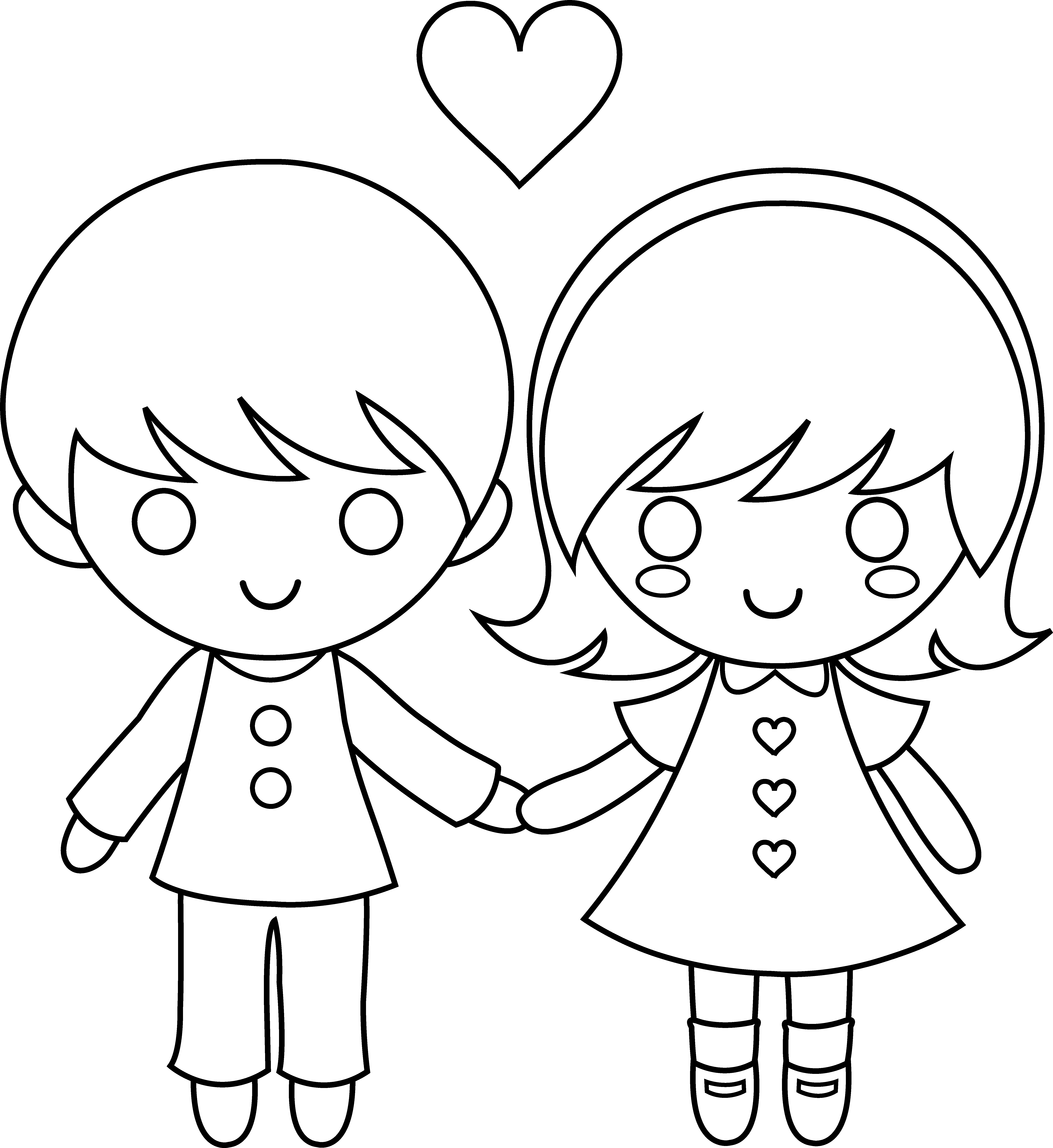 happy valentines day clip art black and white