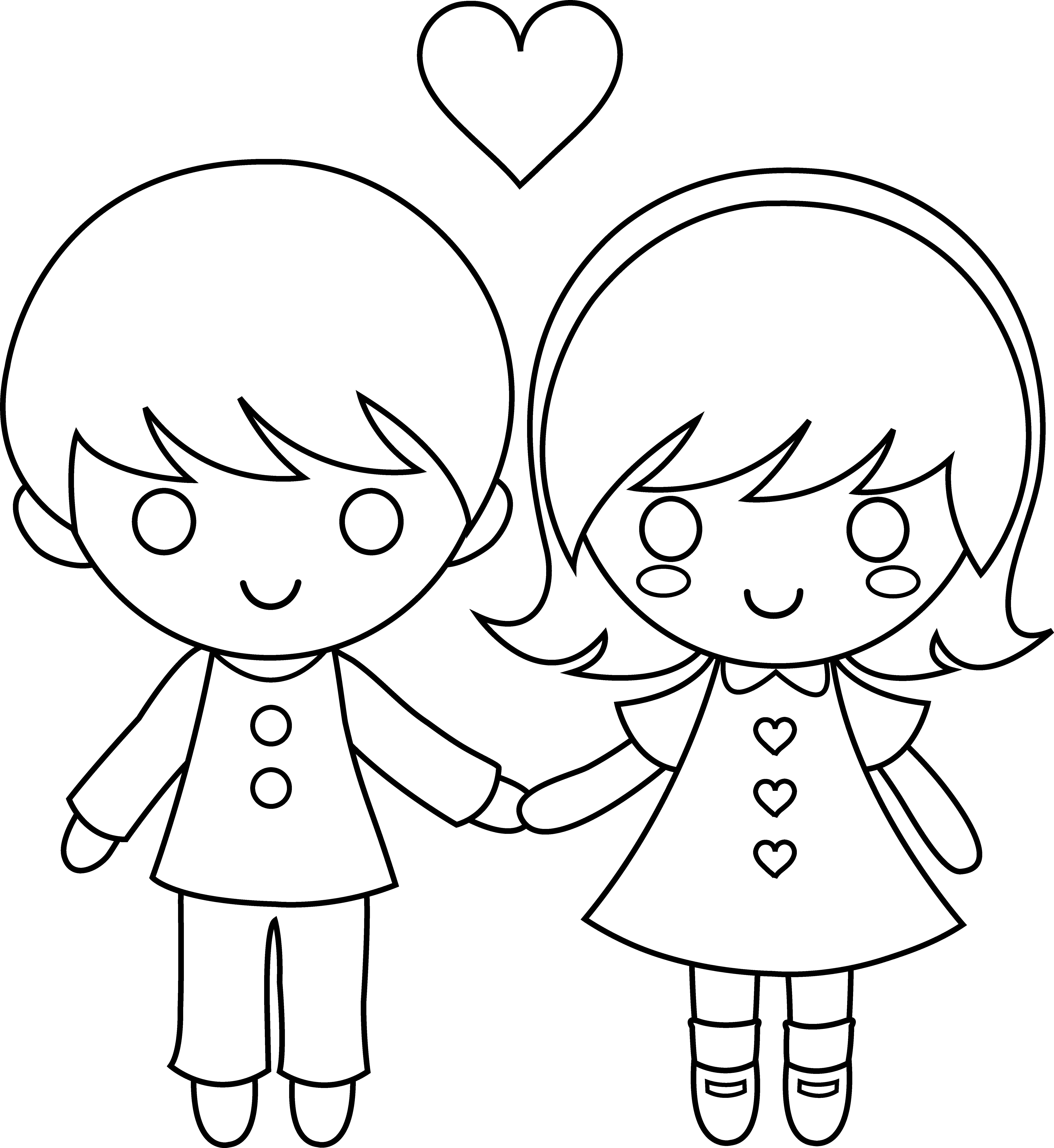 happy valentine's day clip art black and white Valentine