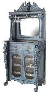 Dragon Furniture   Poly Resin Black Dragons, Pewter Dragons