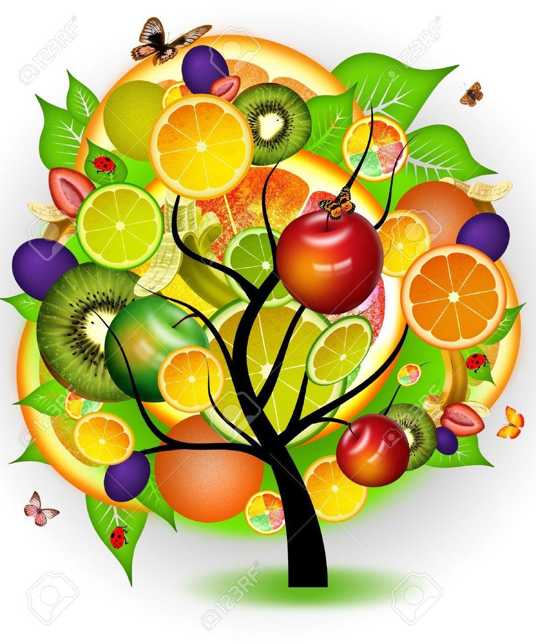Arboles Con Frutas Dibujos Buscar Con Google Arbol De Frutas Frutas Fruta
