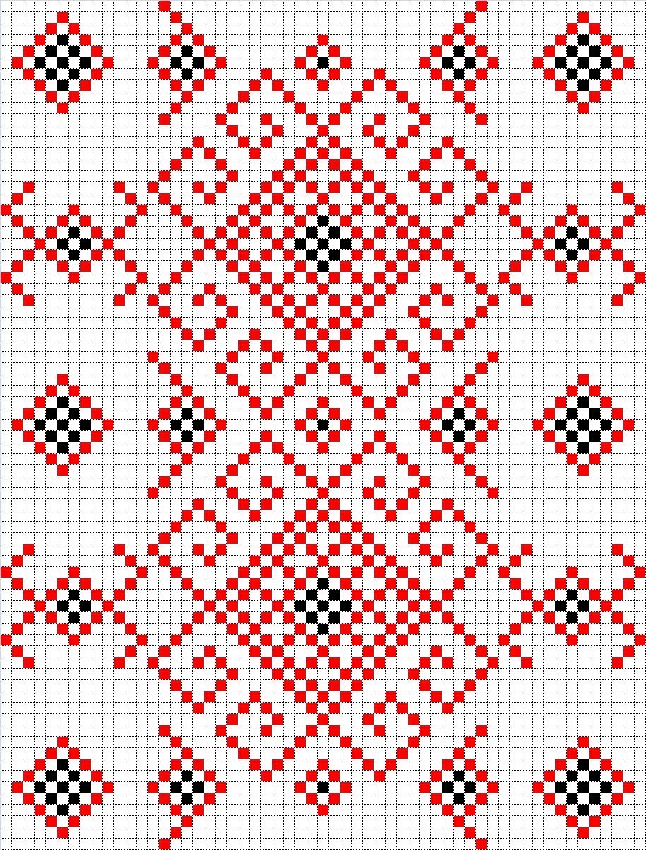 схемы вышивки для рушника крестом